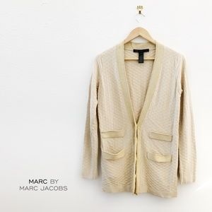 MARC BY MARC JACOBS Gold Cardigan Medium Size